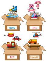 Diversi oggetti in vari colori vettore