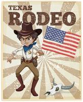 Poster di rodeo vettore
