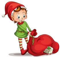 Elfo di Natale vettore