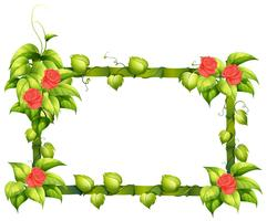 Un disegno di bordo floreale