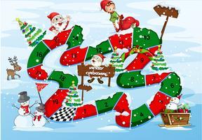 Un gioco da tavolo di Natale vettore