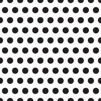 modelli senza cuciture con piselli bianchi e neri (pois). vettore