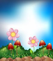 Campo di primavera vettore
