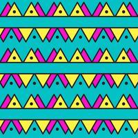Modello astratto vintage senza soluzione di continuità con triangoli in stile anni '80.