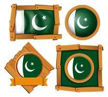 Bandiera della Turchia su diversi fotogrammi