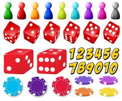Set di gioco vettore