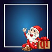 Una cornice carina Babbo Natale