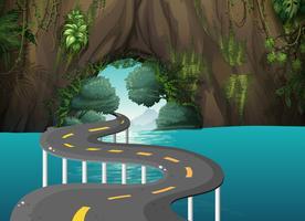 Una lunga strada nella grotta vettore