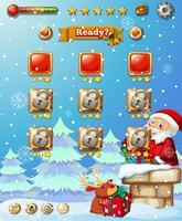 Un modello di gioco di Natale vettore