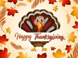 Tacchino del ringraziamento felice in autunno