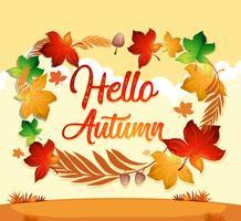 Foglia d'autunno sul modello arancione