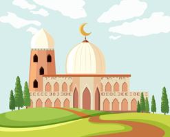 Un bellissimo paesaggio moschea