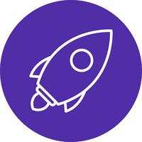 Icona di lancio del vettore