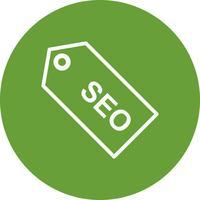 Icona di tag SEO vettoriale