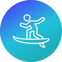 Surf icona illustrazione vettoriale