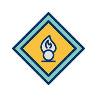 Icona di segnale stradale agente ossidante vettoriale