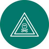 Icona del segnale stradale gas velenoso di vettore