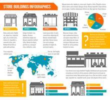 Negozio edificio infografica