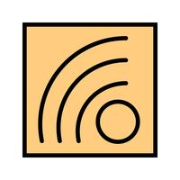 Icona del feed RSS vettoriale