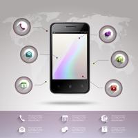 Modello di infografica per smartphone vettore