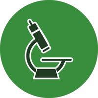 Icona del microscopio vettoriale