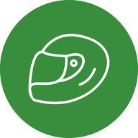 Illustrazione di vettore dell'icona del casco di corsa