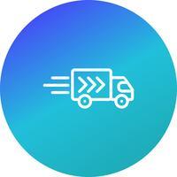 Icona di vettore consegna camion