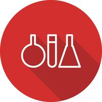 Icona di provette vettoriale