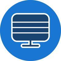 Monitorare l'illustrazione vettoriale icona