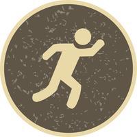 Illustrazione di vettore dell'icona del corridore