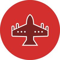 icona di vettore jet da combattimento