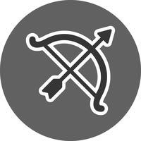 Illustrazione di vettore dell'icona dell'arco