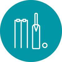 Illustrazione di vettore dell'icona del cricket