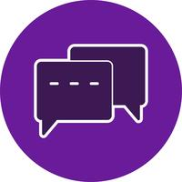 Icona di conversazione vettoriale