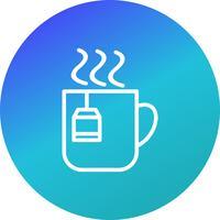 Icona del tè vettoriale