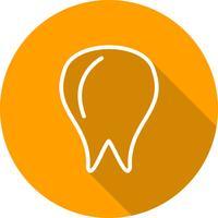 Icona del dente vettoriale