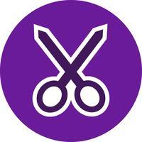 Icona di taglio vettoriale