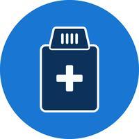 Icona della bottiglia di medicina vettoriale