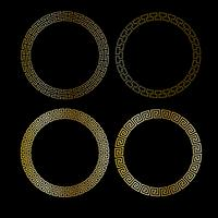 cornici circolari in oro metallizzato