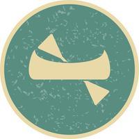 Icona di canoa vettoriale