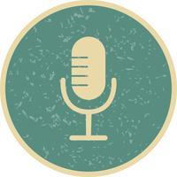 Illustrazione di vettore dell'icona del microfono