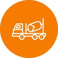 Icona di betoniera vettoriale