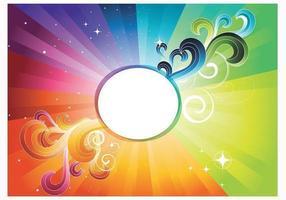 Vettore astratto della carta da parati dell'arcobaleno