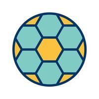Illustrazione di vettore dell'icona di calcio