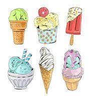 Collezione di gelato Illustrazione vettoriale