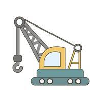 Icona della gru di vettore