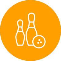 Illustrazione di vettore dell'icona di bowling