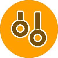 Anelli icona illustrazione vettoriale