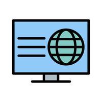 Icona di pagina Web vettoriale