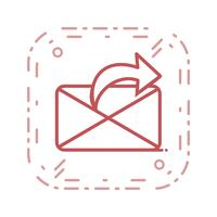 Vettore Invia icona messaggio